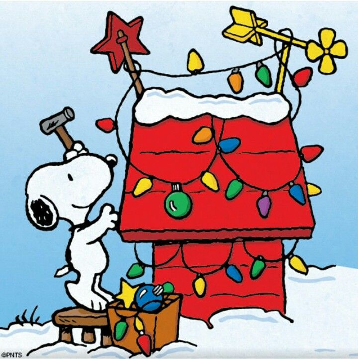 snoopy doghouse Christmas